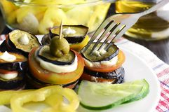 Appetizer with eggplant Royalty Free Stock Images