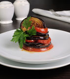 Appetizer Eggplant with Tomatoes Stock Image