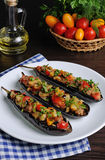 Appetizer eggplant with tomatoes Royalty Free Stock Photos