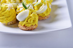 Appetizer with eggs Royalty Free Stock Image