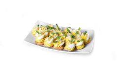 Appetizer with eggs Royalty Free Stock Photos