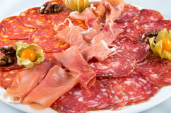 Appetizer, entree, hors d'oeuvre. Of meat Royalty Free Stock Photography