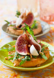 Appetizer with fig Royalty Free Stock Photos