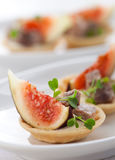 Appetizer with fig and pate Royalty Free Stock Photography