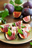 Appetizer of figs Royalty Free Stock Photos