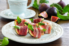 Appetizer of figs Royalty Free Stock Photo