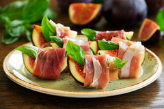 Appetizer of figs Stock Image