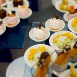 Appetizer finger food at party Royalty Free Stock Photography