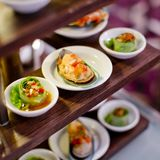 Appetizer finger food at party Stock Photography