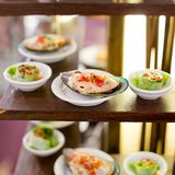 Appetizer finger food at party Royalty Free Stock Images