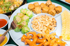 Appetizer or first course , Thai food Stock Images