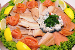 Appetizer fish Stock Images