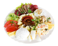 Appetizer food, salad Stock Photos