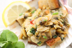 Appetizer of fried portuguese clams Stock Images