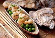 Appetizer of fried shrimp Royalty Free Stock Photos