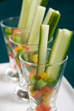 Appetizer glasses Stock Photography