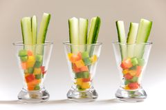 Appetizer glasses Royalty Free Stock Images