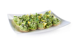 Appetizer with greens Stock Photography