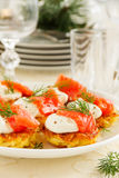 Appetizer of hash browns Stock Photography