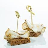 Appetizer. lard in the Ukrainian style. Creative cuisine. Royalty Free Stock Image