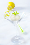 Appetizer of lemon sorbet Stock Photos