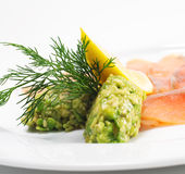 Appetizer - Light-solted Atlantic Salmon Royalty Free Stock Photos