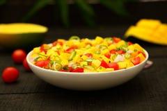 Appetizer-mango salsa salad Stock Photos