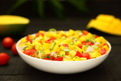 Appetizer-mango salsa salad Royalty Free Stock Photography