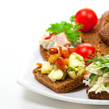 Appetizer with marinated mushrooms Stock Photography