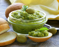 Appetizer of marinated olive tapenade Royalty Free Stock Photos