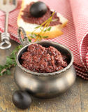 Appetizer of marinated olive tapenade Royalty Free Stock Photo
