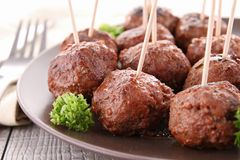 Appetizer, meatballs Royalty Free Stock Images