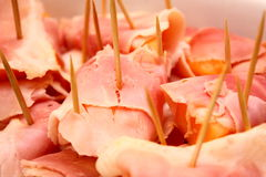 Appetizer: Melon and ham Stock Images