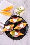 Appetizer,melon Stock Images