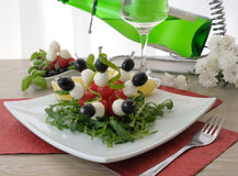 Appetizer of mozzarella Royalty Free Stock Images