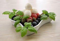 Appetizer of mozzarella Royalty Free Stock Photo