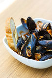 Appetizer of mussels and clams Stock Photography