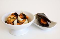 Appetizer: Mussels salad Royalty Free Stock Photography