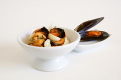 Appetizer: Mussels salad Stock Image