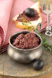 Appetizer of olives, tapenade Stock Images