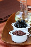 Appetizer of olives - tapenade Royalty Free Stock Photo