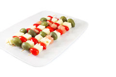 Appetizer On Skewers Stock Images