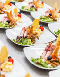 Appetizer plates Stock Photo