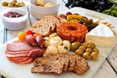 Appetizer platter on a marble server Stock Image