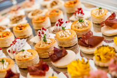 Appetizer platter. A platter full of appetizers ready to be served at a party Royalty Free Stock Images