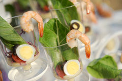 Appetizer prawn Royalty Free Stock Image