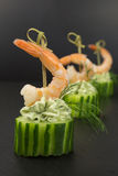 Appetizer with prawn Stock Images