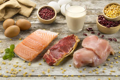 Appetizer of protein foods Royalty Free Stock Photos
