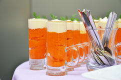 Appetizer of pumpkin and mascarpone Stock Photography