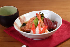 Appetizer of raw fish Stock Image